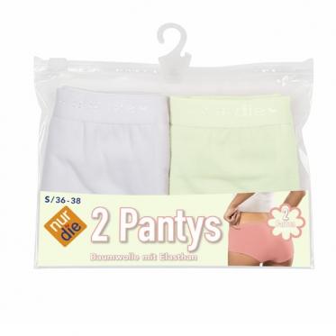 Женские хлопчатобумажные трусы по 2 штуки в упаковке.