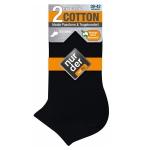 Хлопчатобумажные укороченные мужские носки по 2 пары в упаковке.