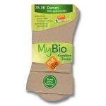 """Носки хлопчатобумажные без резинки """"My Bio Comfort"""" по 2 пары в упаковке."""