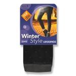 Хлопчатобумажные леггинсы серии Winter Style с точечным узором.